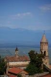 Opinión de Signagi al valle de Alazani Fotografía de archivo