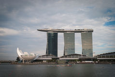 Opinión de Singapur Fotografía de archivo