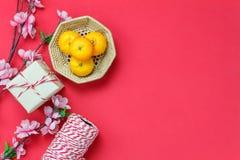 Opinión de sobremesa de accesorios en Año Nuevo lunar y vacaciones chinas del Año Nuevo Imagen de archivo libre de regalías