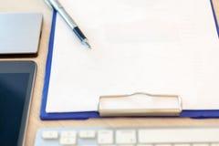 Opinión de sobremesa de la oficina Imagen de archivo libre de regalías