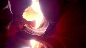 Opinión de Stunnig en el barranco Arizona - fotografía del antílope del viaje metrajes