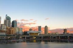 Opinión de Sydney sobre la puesta del sol Imagen de archivo