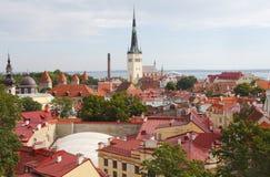 Opinión de Tallinn Estonia Imagenes de archivo