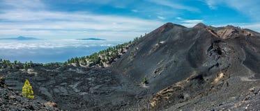 Opinión de Teide de los volcanes de Palma del La Imagen de archivo