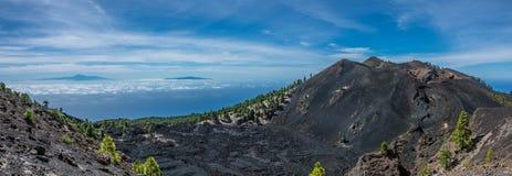 Opinión de Teide del La Palma Imágenes de archivo libres de regalías