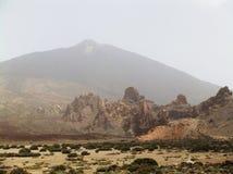 Opinión de Teide, España, islas Canarias Foto de archivo