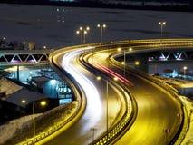 Opinión de Timelapse sobre tráfico de ciudad de la noche metrajes