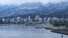Opinión de Timelapse de Vancouver del norte, Canadá 4K almacen de video