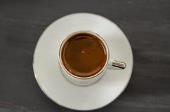 Opinión de top del café turco fotografía de archivo