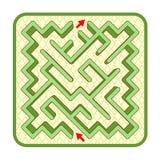 opinión de top del laberinto del seto 3d, fondo diagonalmente formado, cobbled de la yarda libre illustration
