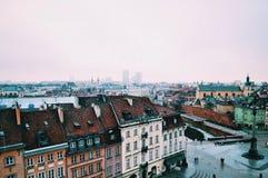 Opinión de Varsovia Fotos de archivo