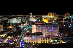 Opinión de Vegas en la noche Foto de archivo