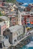 Opinión de Vernazza Cinque Terre Fotos de archivo