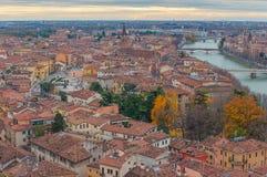 Opinión de Verona, Italia Fotografía de archivo libre de regalías