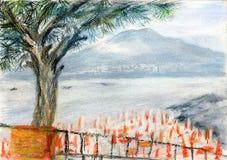 Opinión de Vesuvio stock de ilustración