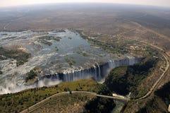 Opinión de Victoria Falls del cielo Fotos de archivo libres de regalías