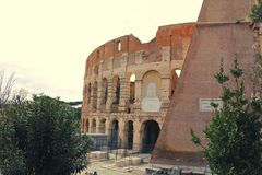 Opinión de Vide del Colosseum fotografía de archivo