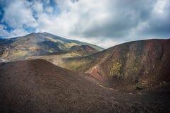 Opinión de Volcano Etna Imagen de archivo