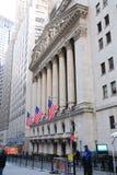 Opinión de Wall Street, New York City fotografía de archivo libre de regalías
