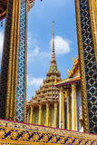 Opinión de Wat Phra Kaew Foto de archivo