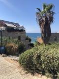 Opinión de Yafa del mar imagen de archivo libre de regalías