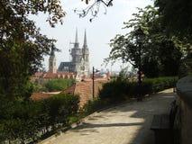Opinión de Zagreb fotos de archivo