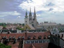 Opinión de Zagreb Fotografía de archivo