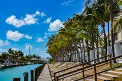 Opinión del área de embarque en las llaves de la Florida Imagen de archivo
