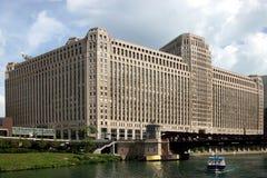 Opinión del â de Chicago de la barca Imagen de archivo