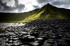 Opinión del acantilado del terraplén del gigante Fotos de archivo