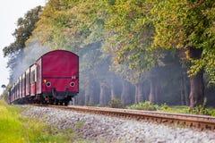Opinión del adiós del ferrocarril Foto de archivo