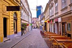 Opinión del advenimiento de la calle de Zagreb Radiceva Foto de archivo libre de regalías
