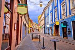Opinión del advenimiento de la calle de Zagreb Radiceva Fotos de archivo libres de regalías