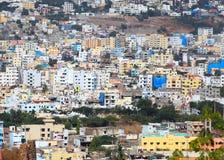 Opinión del aeril de Hyderabad Fotografía de archivo libre de regalías