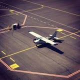 Opinión del aeropuerto fotos de archivo