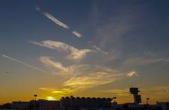 Opinión del aeropuerto Imagen de archivo libre de regalías
