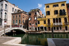 Opinión del agua de Venise Italia imágenes de archivo libres de regalías