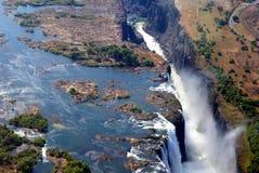 Opinión del aire de Victoria Falls Fotos de archivo
