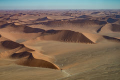 Opinión del aire, parque nacional de la duna 45 de Namib Naukluft Fotos de archivo
