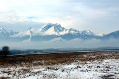 Opinión del alto Tatras, Eslovaquia del invierno Fotos de archivo libres de regalías
