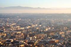 Opinión del amanecer de Roma Italia Imagen de archivo libre de regalías
