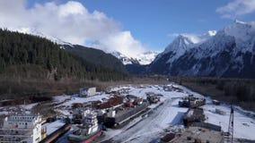Opinión del astillero que sorprende en Alaska almacen de video
