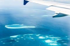 Opinión del atolón de Maldivas Imagen de archivo