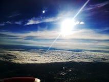 Opinión del avión de la ventana Fotografía de archivo libre de regalías