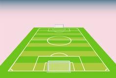 Opinión del campo de fútbol de la meta. Foto de archivo