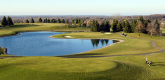 Opinión del campo de golf Fotos de archivo