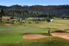 Opinión del campo de golf de Boracay imagen de archivo libre de regalías