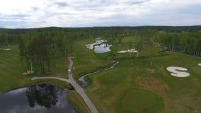 Opinión del campo de golf de arriba metrajes