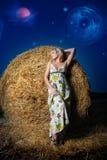 Opinión del campo de la noche fotografía de archivo libre de regalías
