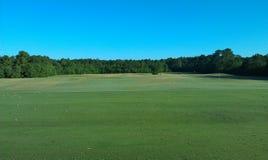 Opinión del campo de prácticas del golf Fotografía de archivo